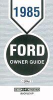 Bishko OEM Maintenance Owner's Manual Bound for Ford Crown Victoria 1985
