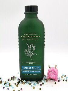 Bath and Body Works Aromatherapy STRESS RELIEF EUCALYPTUS + TEA  Body Oil 4 oz