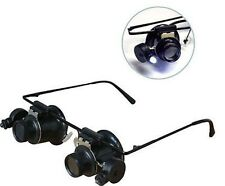 Eye Magnifing Head Loupe Lighted Glass Eyeloupe Jewelers Magnifier Glasses Lens