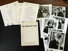 Breakfast Club (1984) - Original Complete Movie Press Kit w/Photos & Press News