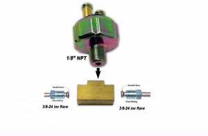 Chevy- Street Hot Rod Low Pressure Hydraulic Brake Light Switch & Brass Tee