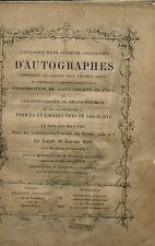 CATALOGUE AUTOGRAPHES 30-1-1882 CANONISATION ST VINCENT DE PAUL PROCES LOUIS XVI