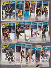 1983 - 84 OPC Team SET Lot of 19 Vancouver CANUCKS NM+ o-pee-chee Tiger GRADIN