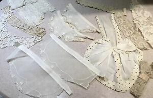 Antique Victorian Edwardian Lace Lady Collars Jabots Neckwear Lot Vintage