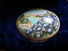 Halcyon Days Enameled 2000 (The Year To Remember) Trinket Box In Box