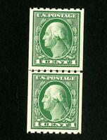 US Stamps # 410 Superb Line Pair OG H