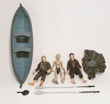 Lord Of The Rings Toybiz Elven Boat W/ Frodo Sam Gollum Fellowship Of The Ring