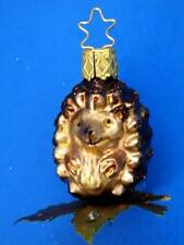 INGE GLAS HEDGEHOG  GERMAN BLOWN GLASS CHRISTMAS TREE ORNAMENT BABY IGEL