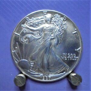 1987 USA 1oz Fine Silver 99.99% Eagle Walking Liberty $1 Coin U.K. only.