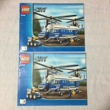 Lego City 4439 Heavy-Duty Helicopter Instructions / Manuals 2012