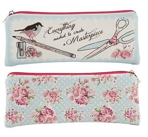 'Everything You Need To Create A Masterpiece' Pencil Case. Posies flower print.