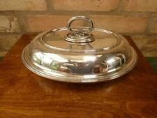 More details for lovely antique oval mappin webb serving tureen entree dish silver plated