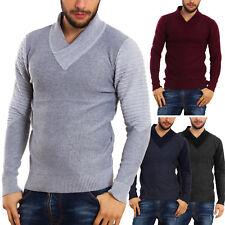 Maglione uomo pullover pullover collo V aderente maniche lunghe casual YL-003