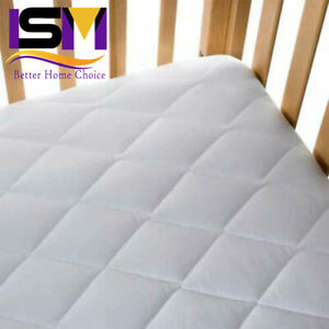 Baby Cot Bed Breathable QUILTED AND WATERPROOF Foam Mattress 120 x 60 x 10 cm
