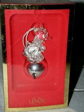 Lenox Crystal Ornament ~ Jingle Bell Rudolph~ Rudolph Red-Nose Reindeer Mib