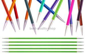 KnitPro ZING Nadelspiele 15cm & 20cm, bunte Farben, Sockennadeln Stricknadeln