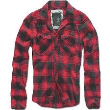 Camisas y polos de hombre de manga larga en rojo color principal negro