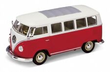 Volkswagen T1 bus rouge/blanc 1962 1/24 Welly
