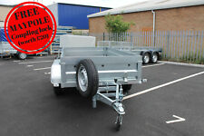 "NEW Car trailer twin axle 8'8""x4'3"" 750kg tipping tipper NEPTUN spare wheel"