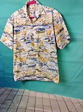Campia Moda, vtg retro island vacation shirt size m