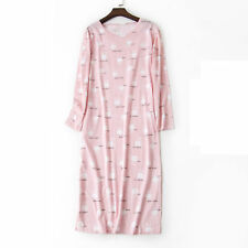Casual Nights Women's Cotton Long Sleeve Cartoon Floral Nightgown Sleep Shirt Pj