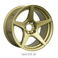 18 INCH XXR 535 GOLD WHEELS AND TYRES STRETCH TYRES PACKAGE DEAL DRIFT STYLE