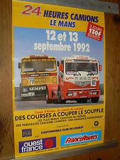 Affiche 24 Heures du Mans Camion 1992 MERCEDES   MAN  RVI  Truck LLKW Poster