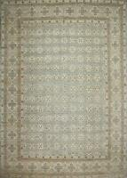 Traditional Hand Knotted Farhan Area Rug Grey/Beige Rugs Size (10 x 14)
