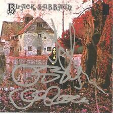 BLACK SABBATH SIGNED OZZY OSBOURNE TONY IOMMI FIRST CD SLEEVE  VAN HALEN  PASS