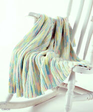KNITTING PATTERN - EASY TO KNIT LITTLE RIDGES BABY BLANKET/SHAWL/AFGHAN