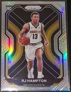 R.J. Hampton 2020-21 Panini Prizm SILVER PRIZM Parallel Rookie Card (no.286)