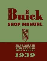 1939 Buick Service Shop Repair Manual Supplement Engine Drivetrain Electrical OE