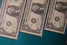 ERROR PAPER BILLS> 1988  FEDERAL RESERVE NOTES, ONE DOLLAR (x3) #s 68025379E-81E