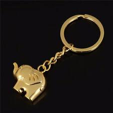 Vintage Funny Elephant Gold Keychain Keyring Key Charm Keyfob Gift Souvenir@@