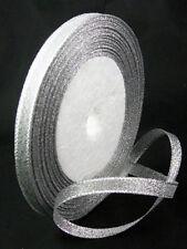 BOBINE de 22m RUBAN ARGENTE largeur 7mm perles bijoux scrap déco loisirs