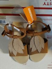 Gymboree girls brown leaf sandals size 12 nwt