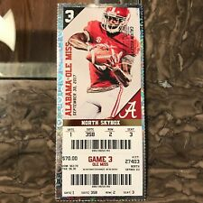 2017 Alabama vs Ole Miss Ticket Stub CALVIN RIDLEY 09/30/2017 NM+ 358 2 3