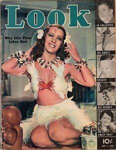 1938 LOOK January 4-Charlie McCarthy; Lily Pons; Carole Lombard; Twins; Ju Jitsu