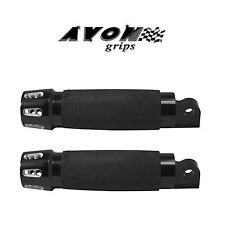 Avon Gatlin Black Motorcycle Footpegs Pair Road King Dyna Glide Harley Davidson
