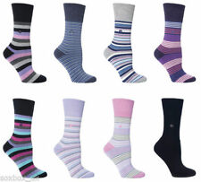 Cotton Machine Washable Striped Everyday Socks for Women