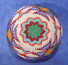 "Paiute Coiled Willow /Beaded Basket c1900-1950 ex NV ranch coll. 4 1/8"" x 2 3/8"""