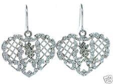 Joseph Esposito Diamonique Solid 925 Sterling Silver Heart  Earrings '