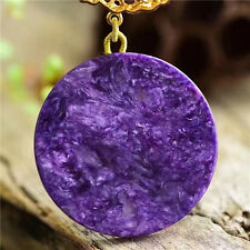 Genuine Natural Purple Charoite Gemstone Woman Pendant AAA 56*56*5mm