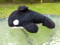 "Vtg 1979 Sea World Amusement Theme Park Plush Shamu Orca 9"" Stuffed Animal Toy"
