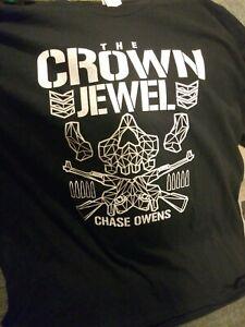 The Crown Jewel Chase Owens Bullet Club 2XL XXL T Shirt NJPW ROH AEW (NEW)