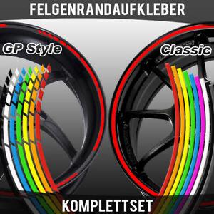 Felgenrandaufkleber Classic & GP Design Auto Motorrad Fahrrad Felgenaufkleber