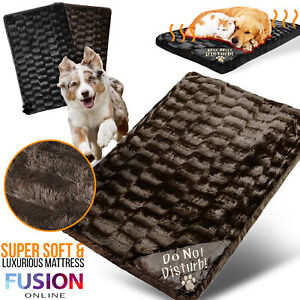 Pet Bed Mattress Dog Cat Large Luxury Fur Washable Pillow Cushion Soft Warm Bed