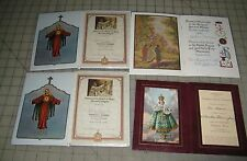 Vintage Immaculate Heart of Mary, Franciscan Mission Certificate Holder Booklets
