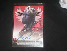 KING MO LAWAL MMA UFC LEAF CERTIFIED AUTHENTIC HAND SIGNED AUTOGRAPHED CARD
