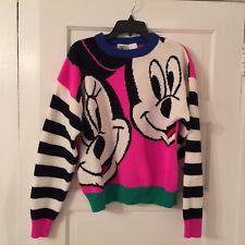 Vintage Mickey & Co. Disney Micky & Minnie Women's Sweater XL 1990's Striped